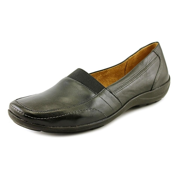 Naturalizer Fritz Women W Square Toe Leather Black Loafer