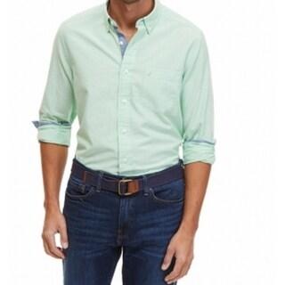 Nautica NEW Ash Green Mens Size Small S Oxford Button Down Shirt