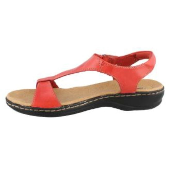CLARKS Womens Leisa Foliage Leather Open Toe Casual Ankle Strap Sandals