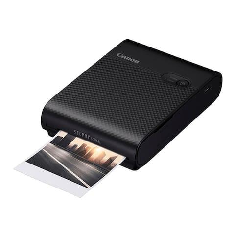Canon SELPHY Square QX10 Compact Photo Printer (Black) - Black