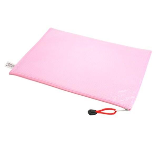 Unique Bargains 12 Pcs Pink Plastic Pen File A4 Document Bags Zip Up  Folders Pockets