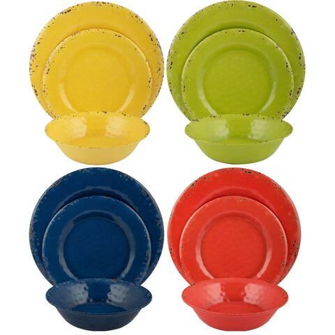 Melange 36-Piece Melamine Dinnerware Set (Rustic Collection )