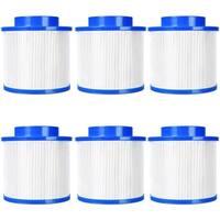Goplus 6 Pack Hot Tub Pool Spa Filter Cartridge Pump Replacement 120 Fold Easy Set - blue&white