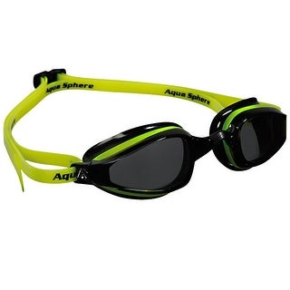 Aqua Sphere K-180 Smoke Lens Competition Swim Goggles - Yellow/Black