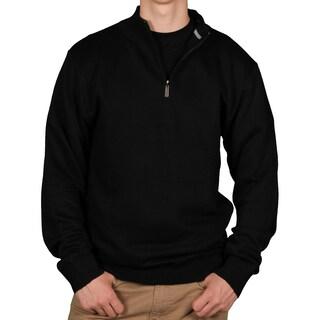 Ecko Unltd. Men's Solid 1/4-Zip Sweater (Option: Black - Medium)
