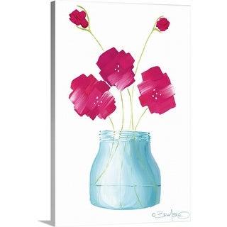 """Flowers in a Jar I"" Canvas Wall Art"