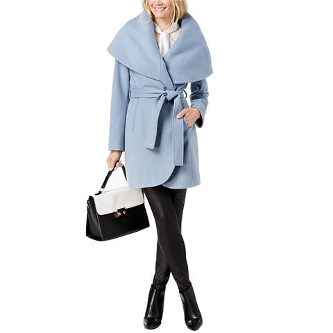 T Tahari Double Coat Pale Blue