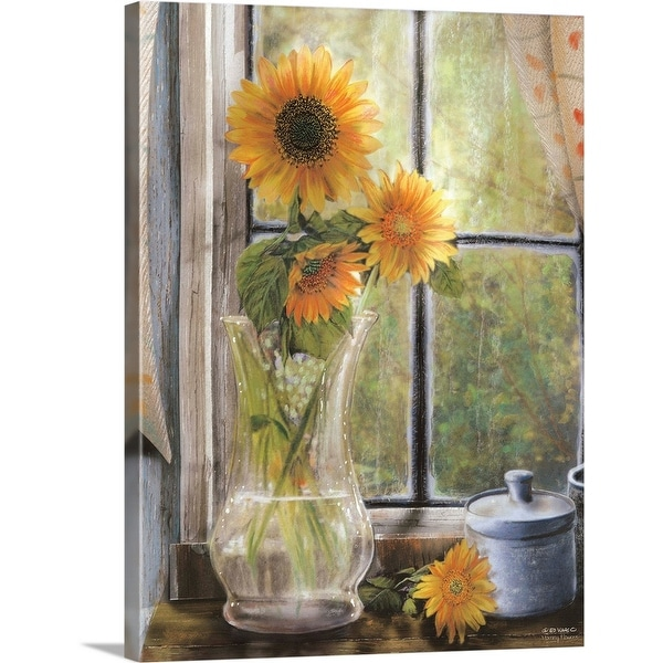 """Morning Flowers"" Canvas Wall Art"