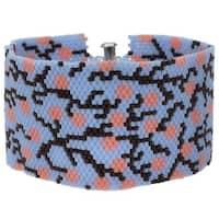 Peyote Bracelet - Cherry Blossom in Blue - Exclusive Beadaholique Jewelry Kit