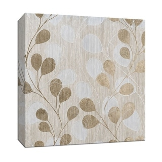 """PTM Images 9-146837  PTM Canvas Collection 12"""" x 12"""" - """"Gold Cascade I"""" Giclee Leaves Art Print on Canvas"""