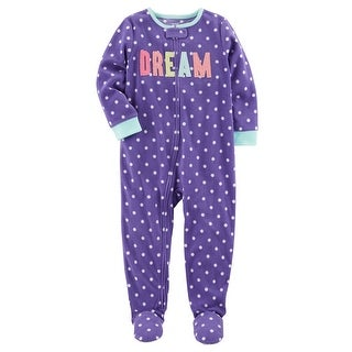 Carter's Little Girls' 1 Piece Dream Fleece Pajamas, 5-Toddler - Purple