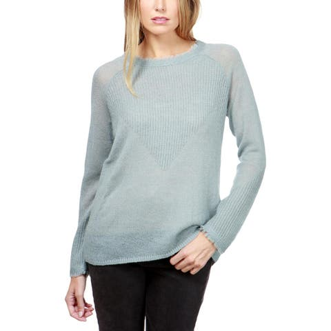 Lucky Brand Womens Pullover Sweater Wool Blend Frayed