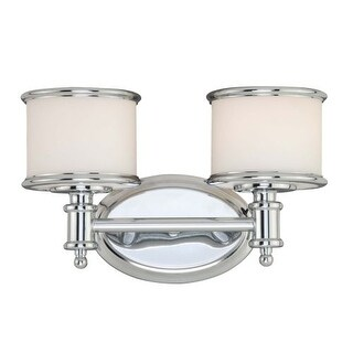 "Vaxcel Lighting CR-VLU002 Carlisle 2 Light 13-3/4"" Wide Wall Sconce"