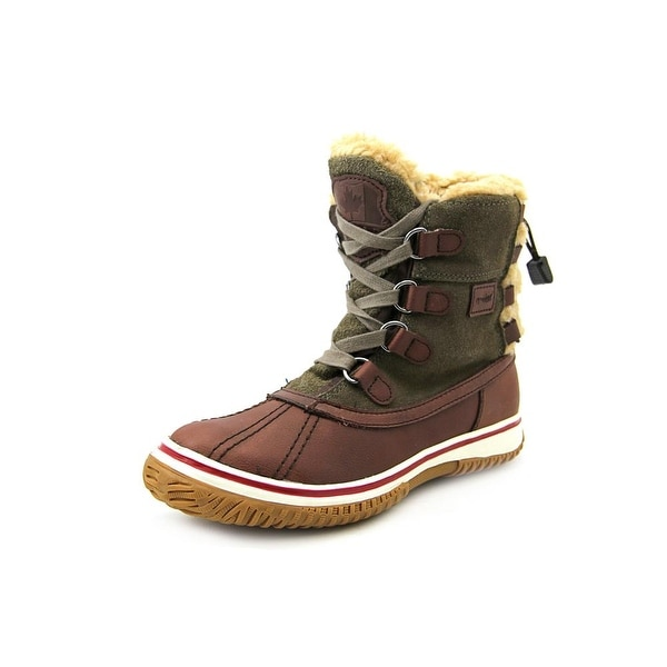 Pajar Iceland Women Round Toe Leather Brown Winter Boot