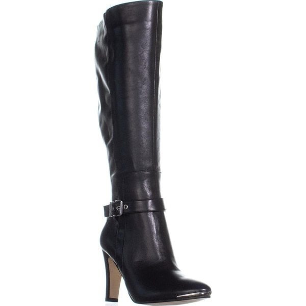 64a5fa2eda9 Shop Marc Fisher Ibis Wide Calf Buckle Knee High Boots, Black - 7 us ...