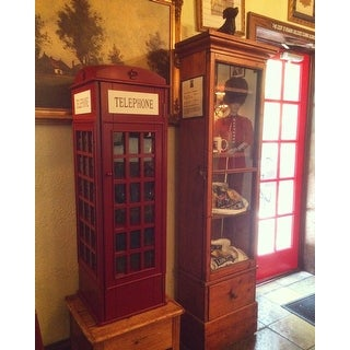 Shop Harper Blvd Red Phone Booth Media Storage Cabinet   On Sale   Free  Shipping Today   Overstock.com   10867216