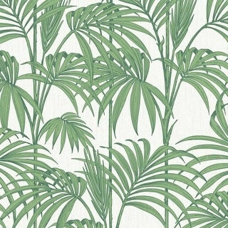 Graham and Brown 32-969 56 Square Foot - Honolulu Palm Green by Julien MacDonald - Non-Pasted Non-Woven Wallpaper