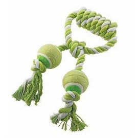 Ethical Pet Mega Twister Heavy Twisted Double Tennis Tug 14-Inch Dog Toy