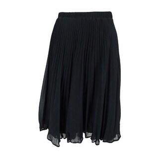 Maison Jules Women's Pleated Chiffon Skirt - S