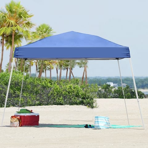 10 x 10ft Pop Up Canopy Tent Instant Shelter UV-protected Inclined Leg