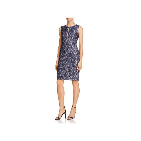 T Tahari Womens Dakota Cocktail Dress Lace Knee-Length