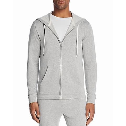 Velvet Mens Sweater Gray Size Small S Full Zip Hoodie Drawstring