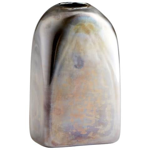 "Cyan Design 10005 Montague 6"" Wide Glass Vase - Iridescent Gunmetal"