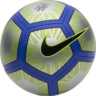 Nike Unisex Neymar Strike Soccer Ball - chrome/volt/racer blue/black