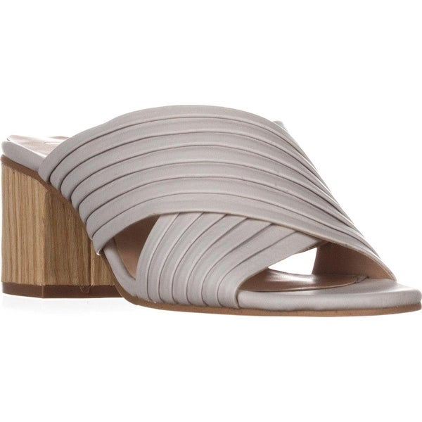 Nanette Lepore Womens Ray Leather Open Toe Special Occasion Mule Sandals
