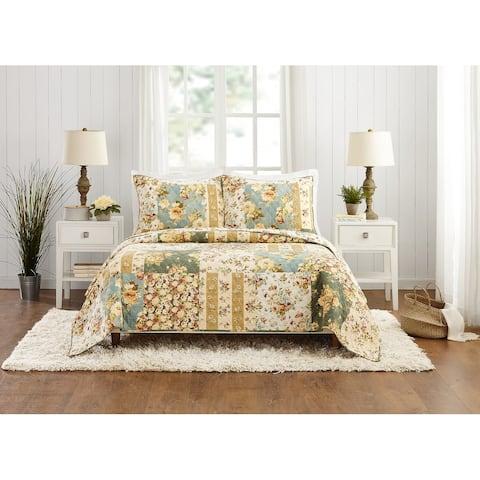Modern Heirloom Floral Patch Quilt Set
