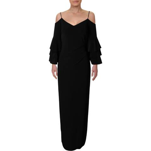 Lauren Ralph Lauren Womens Kenalee Evening Dress Cold Shoulder Full-Length
