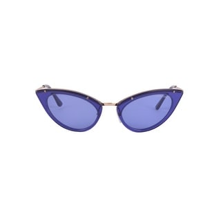 3bf3acefbf90 Shop Tom Ford Womens Blue and Gold Grace Cateye Sunglasses - Free Shipping  Today - Overstock - 22995121