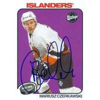 Mariusz Czerkawski Autographed Hockey Card New York Islanders 2001