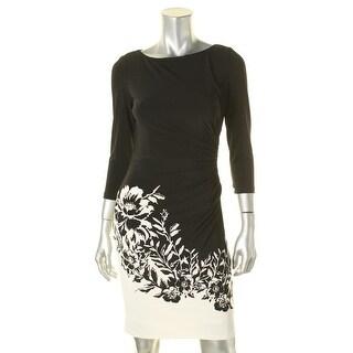 Lauren Ralph Lauren Womens Petites Wear to Work Dress Matte Jersey High Neckline