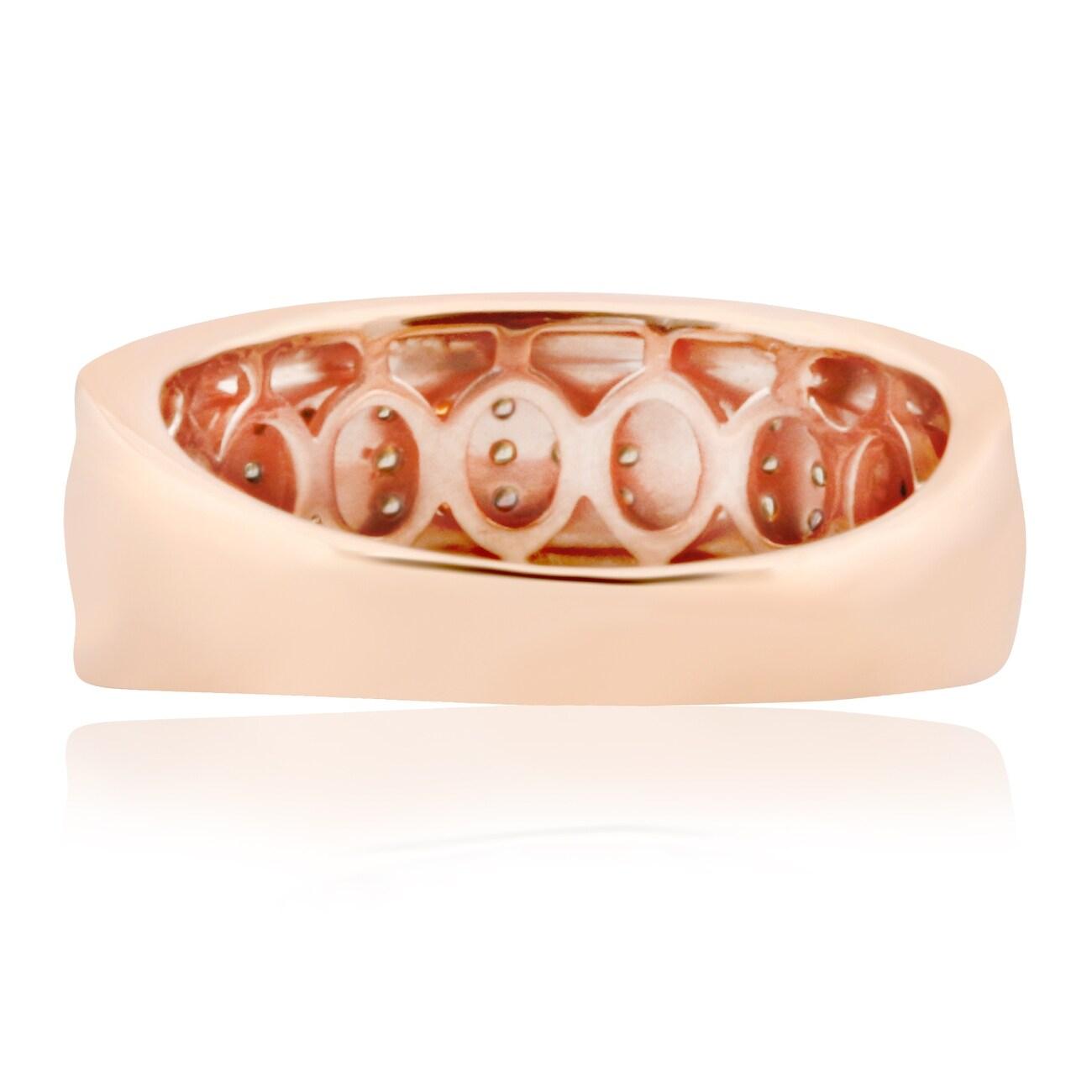 Brand New 0.37 Carat Round Brilliant Cut Real Brown Diamond Anniversary Ring - Thumbnail 1