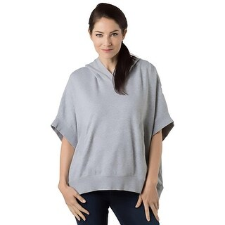 Alternative Apparel Womens Nomad Cape Hoodie French Terry Heathered