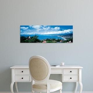 Easy Art Prints Panoramic Image 'Coast, Palos Verdes Peninsula, Palos Verdes, Los Angeles, California' Canvas Art