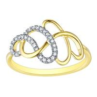 Prism Jewel 0.90MM 0.09CT G-H/I1 Natural Diamond Light Weight Fancy Ring - White G-H