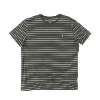 Polo Ralph Lauren Mens Casual Shirt Crew Neck Striped - M