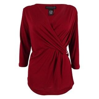 Grace Elements Women's Faux Wrap Jersey Top