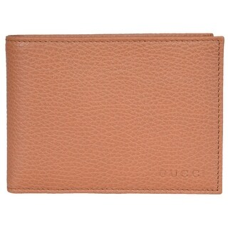 Gucci Men's 292534 Saffron Tan Textured Leather W/Coin Large Bifold Wallet - 5.25 x 3.75 inches