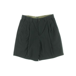 Geoffrey Beene Mens Twill Double Pleat Casual Shorts - 38