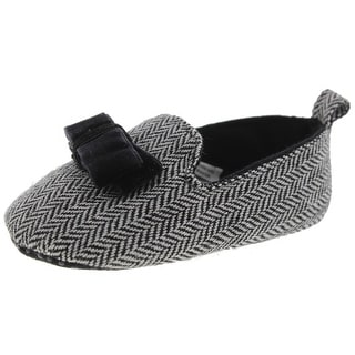 Luvable Friends Loafers Bow HerringBone