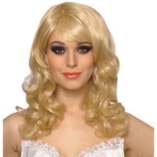 Blonde Singing Star Halloween Costume Wig - Standard - One Size