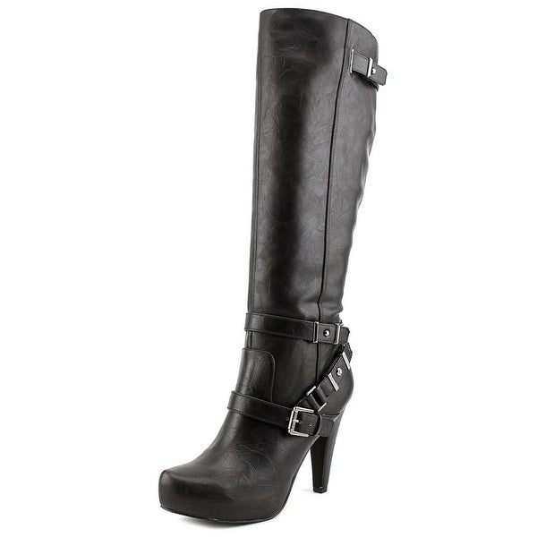 G By Guess Theorry Women Pointed Toe Synthetic Black Knee High Boot