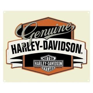 Harley-Davidson Genuine H-D Banner Tin Metal Sign 14 x 17 Inch 2010241