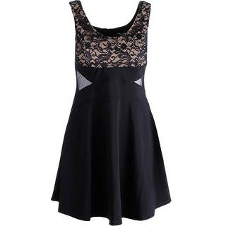Ruby Rox Womens Juniors Party Dress Sleeveless A Line|https://ak1.ostkcdn.com/images/products/is/images/direct/f32dd8b56b11fc62834f82b7c8dc92fbabd23581/Ruby-Rox-Womens-Juniors-Sleeveless-A-Line-Party-Dress.jpg?impolicy=medium