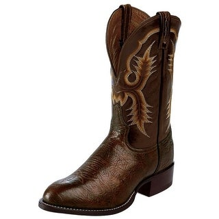 Tony Lama Western Boots Mens Cowboy Shrunken Shoulder Chocolate CT2032