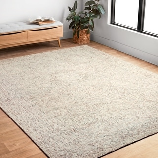 Link to Alexander Home Aspen Neutral Hand-Tufted Contemporary Wool Rug Similar Items in Farmhouse Rugs