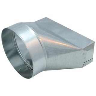 """Air King TR7-10 7"""" Round Galvanized Steel Universal Boot Transition for Select Air King Models - N/A"""